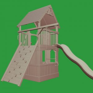 Deluxe Fort Jr. w/ Lower Enclosure Playhouse