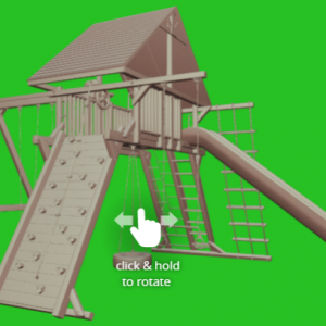 Extreme Playcenter Combo 2 w/Wood Roof