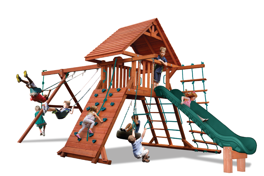Turbo Original Playcenter Combo 2 with Wood Roof