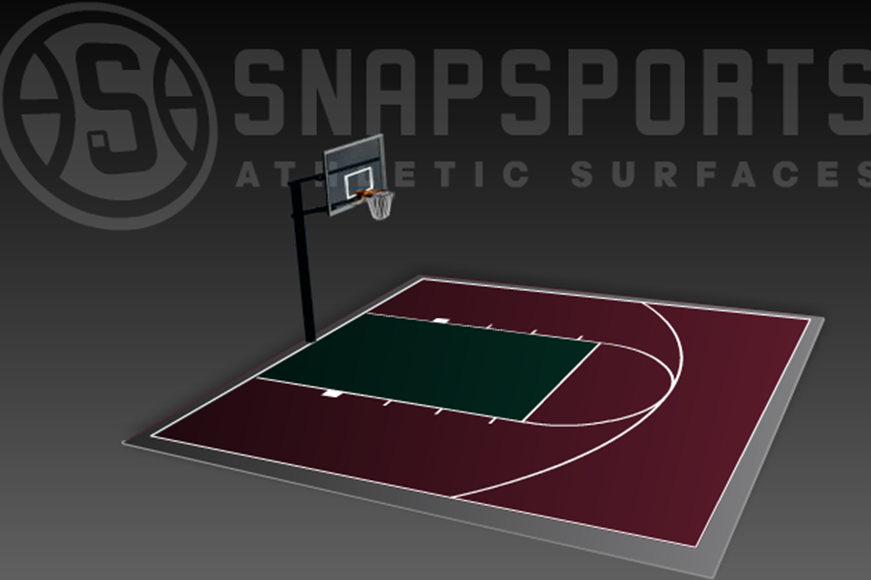 30' x 30' Basketball Court with Hoop