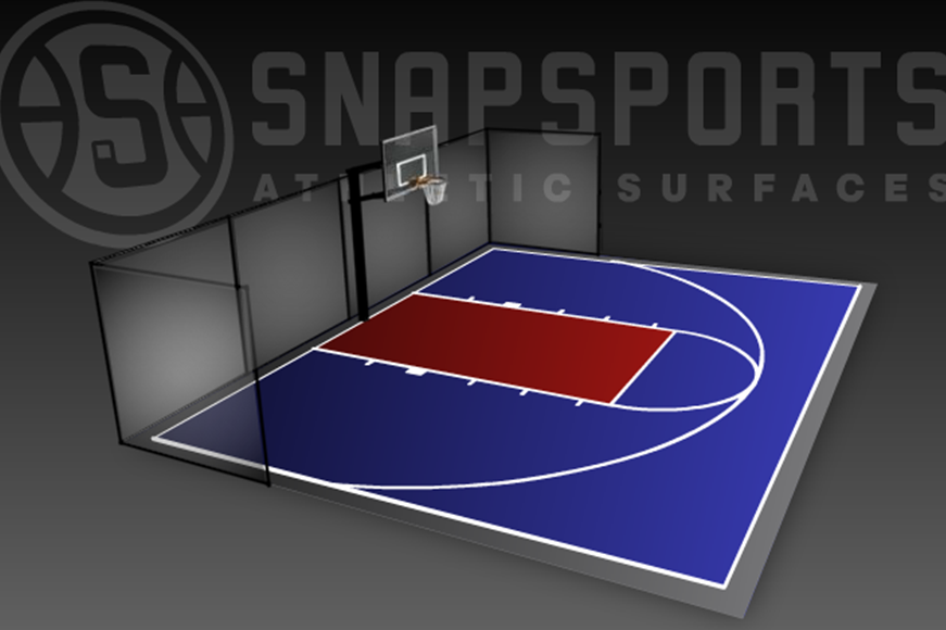 30' x 40' Basketball Court with Containment Netting