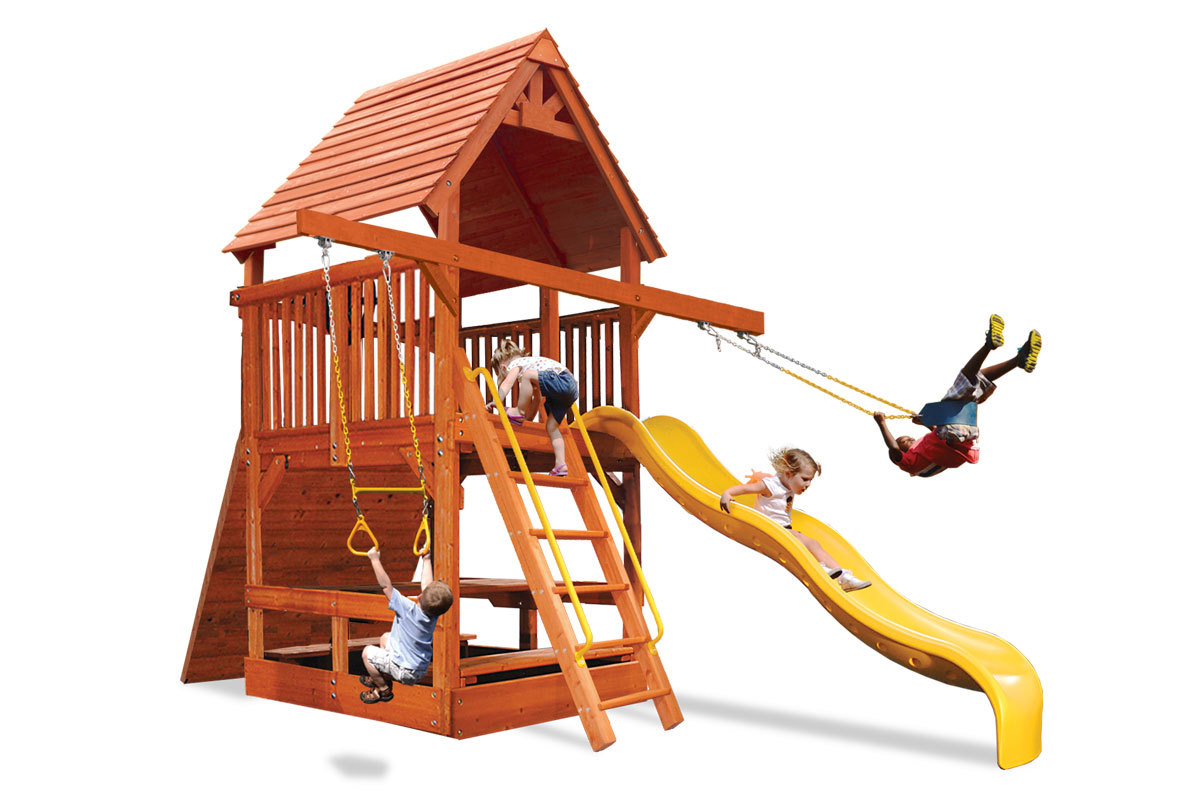 Deluxe Fort Spacesaver with Double Swing Arm