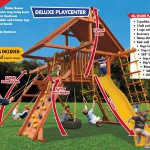 Deluxe Playcenter Combo 2 w/Wood Roof