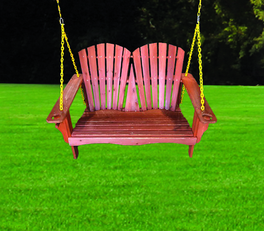 Adirondack Bench Swing with Chains